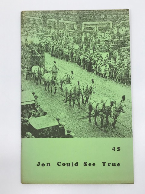 """Jon Could See True Wormwood Review #45. """"The Jon Web/The Outsider """" Issue. Marvin Malone."""