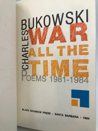 War All the Time Poems 1981-1984
