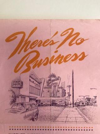 There's No Business (Broadside/flyer No. 12) by Charles Bukowski and illustrations by R. Crumb